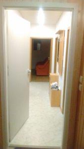 Die neue Tür vom Treppenhaus aus