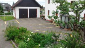 Unsere gelb markierten Parkplätze
